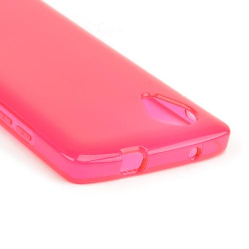 Hot Pink/ Frost Crystal Silicone Skin Case for LG Google Nexus 5
