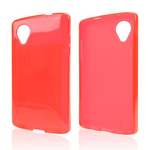 Red/ Frost Crystal Silicone Skin Case for LG Google Nexus 5