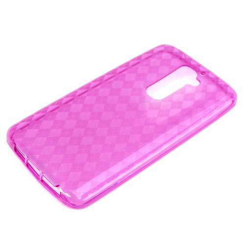 Hot Pink Crystal Silicone Skin Case for LG G2 (AT&T, T-Mobile, & Sprint)