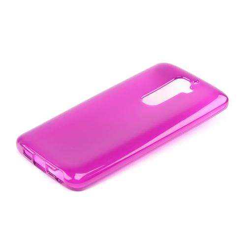 Magenta/ Frost Crystal Silicone Skin Case for LG G2 (AT&T, T-Mobile, & Sprint)