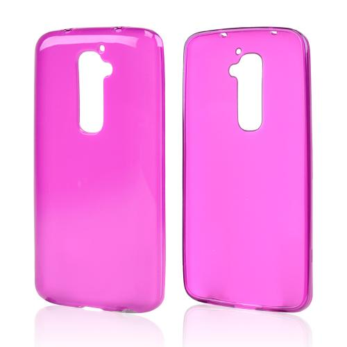 Purple/ Frost Crystal Silicone Skin Case for LG G2 (AT&T, T-Mobile, & Sprint)