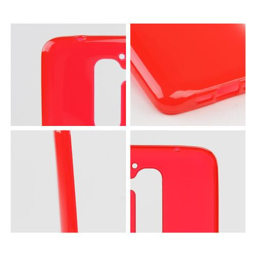 Red/ Frosted Crystal Silicone Skin Case for LG G2 (AT&T, T-Mobile, & Sprint)