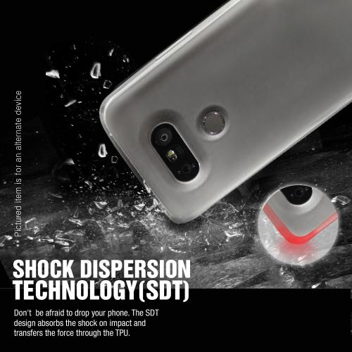 LG Optimus Zone 3  Case, REDshield [Black]  Slim & Flexible Anti-shock Crystal Silicone Protective TPU Gel Skin Case Cover