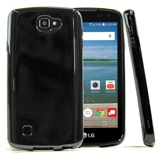 [LG Optimus Zone 3]  Case, REDshield [Black]  Slim & Flexible Anti-shock Crystal Silicone Protective TPU Gel Skin Case Cover