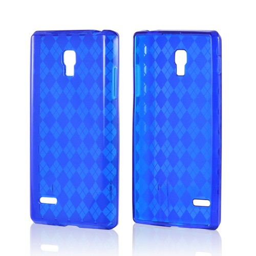 Argyle Blue Crystal Silicone Case for LG Optimus L9