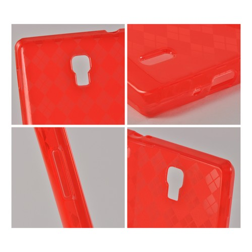 Argyle Red Crystal Silicone Case for LG Optimus L9