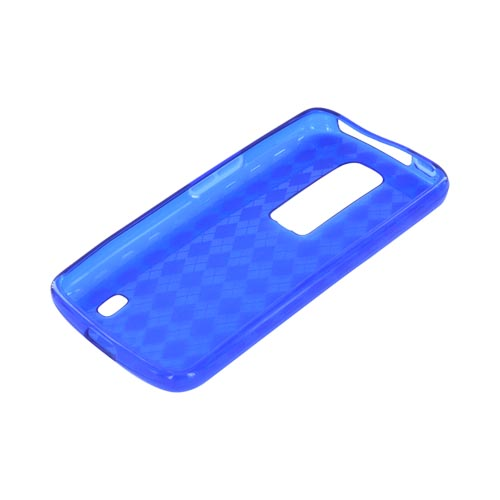 LG Nitro HD Crystal Silicone Case - Argyle Blue