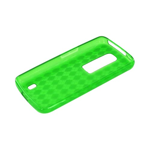 LG Nitro HD Crystal Silicone Case - Argyle Green