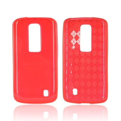 LG Nitro HD Crystal Silicone Case - Argyle Red
