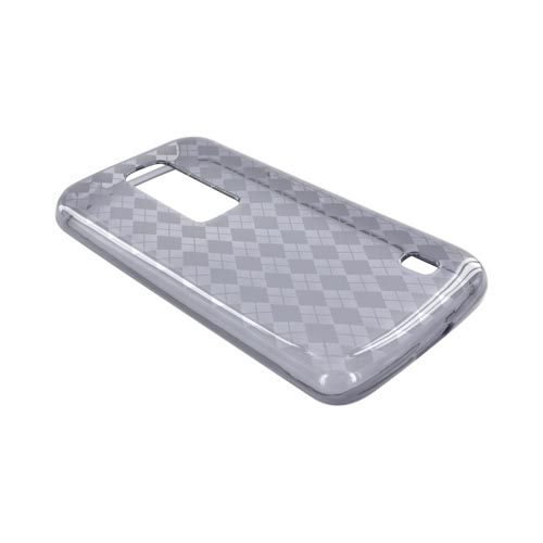 LG Nitro HD Crystal Silicone Case - Argyle Smoke