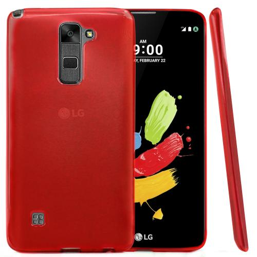 [LG Stylo 2] Case, REDshield [Red] Slim & Flexible Anti-shock Crystal Silicone Protective TPU Gel Skin Case Cover