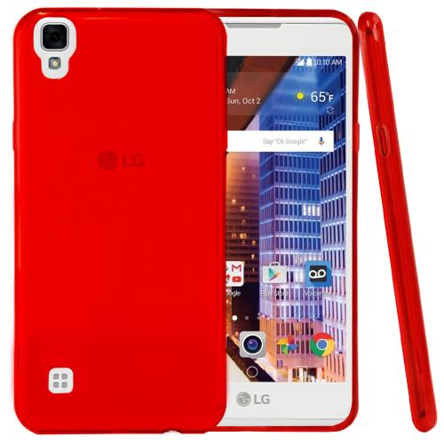 [LG Tribute HD] TPU Case, REDshield [Red] Slim & Flexible Anti-shock Crystal Silicone Protective TPU Gel Skin Case Cover