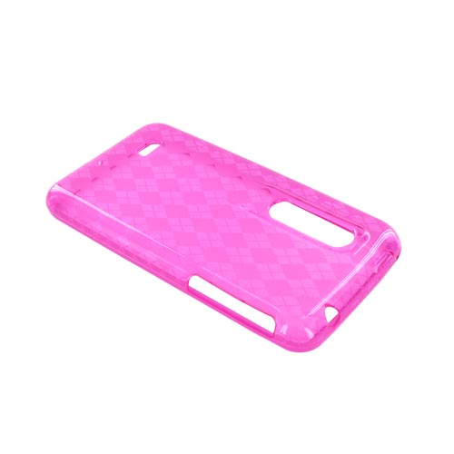 LG Thrill 4g Crystal Silicone Case - Argyle Pink