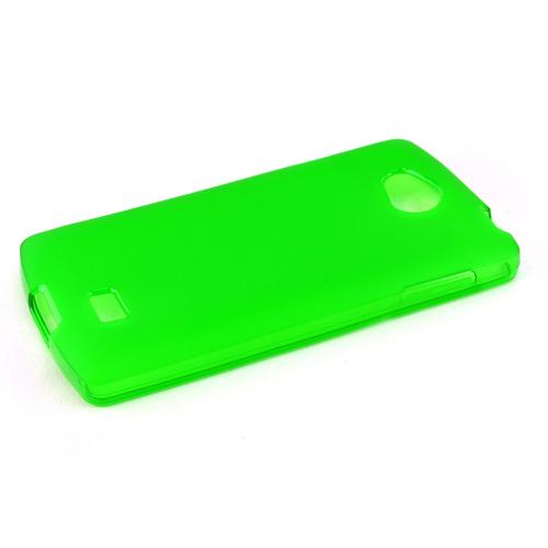 Lg Transpyre Tpu Case [neon Green / Frost] Protective Bumper Case W/ Flexible Crystal Silicone Tpu Impact Resistant Material