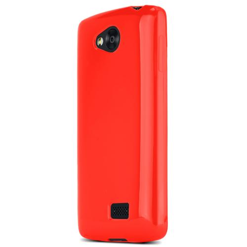Lg Transpyre Tpu Case [red / Frost] Protective Bumper Case W/ Flexible Crystal Silicone Tpu Impact Resistant Material