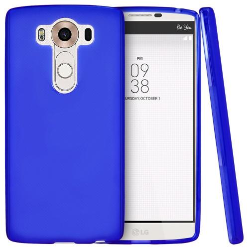 LG V10 Case, [Blue] Slim & Flexible Crystal Silicone TPU Protective Case