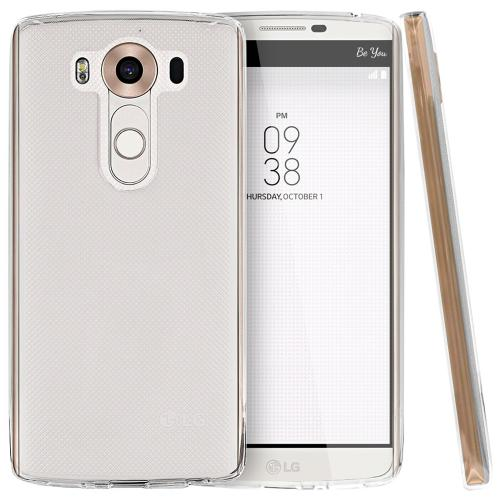 LG V10 Case,  [Clear]  Slim & Flexible Anti-shock Crystal Silicone Protective TPU Gel Skin Case Cover