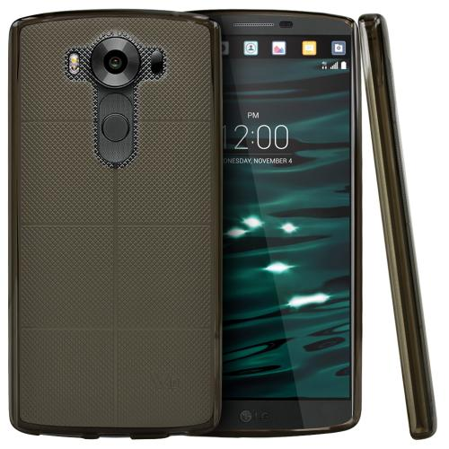 LG V10 Case, [Smoke] Slim & Flexible Crystal Silicone TPU Protective Case