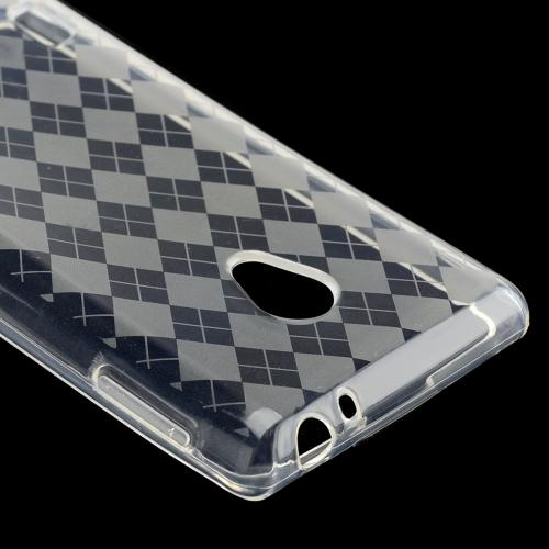 Argyle Clear Crystal Silicone Case for LG Lucid 2