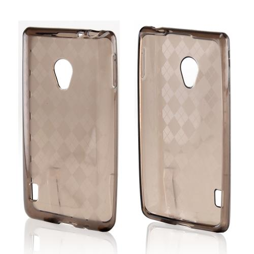 Argyle Smoke Crystal Silicone Case for LG Lucid 2