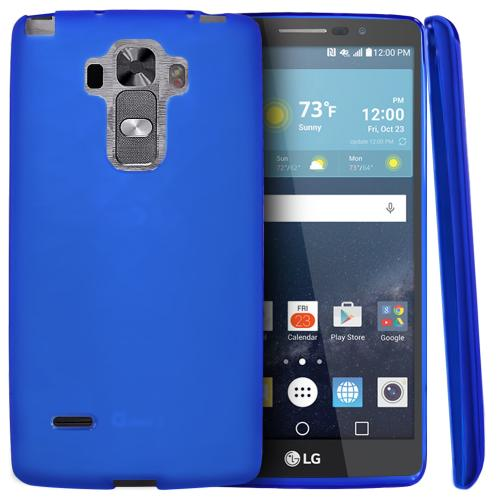 LG G Vista 2 Case, [Blue] Slim & Flexible Crystal Silicone TPU Protective Case