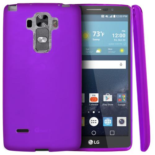 LG G Vista 2 Case, [Purple] Slim & Flexible Crystal Silicone TPU Protective Case