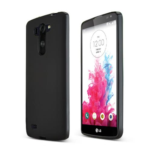 Black LG G Vista Flexible Crystal Silicone TPU Case - Conforms To Your Phone Without Stretching Out!