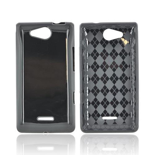 LG Lucid VS840 Crystal Silicone Case - Argyle Black