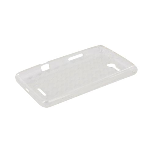 LG Lucid VS840 Crystal Silicone Case - Argyle Clear