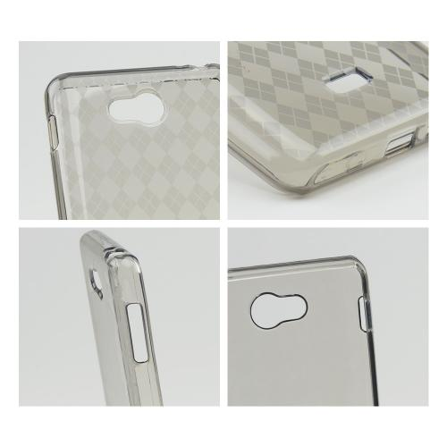 Smoke Argyle Crystal Silicone Case for LG Spirit 4G
