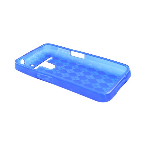 LG Revolution, LG Esteem Crystal Silicone Case - Argyle Blue