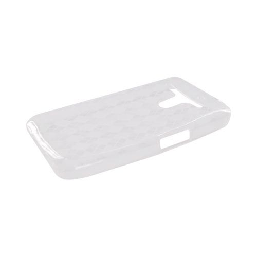 LG Revolution, LG Esteem Crystal Silicone Case - Argyle Clear