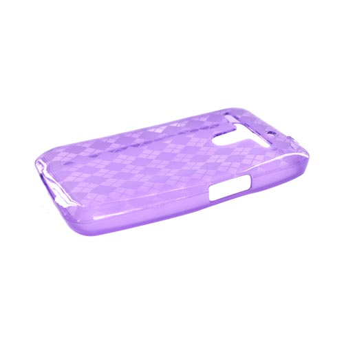 LG Revolution, LG Esteem Crystal Silicone Case - Argyle Purple