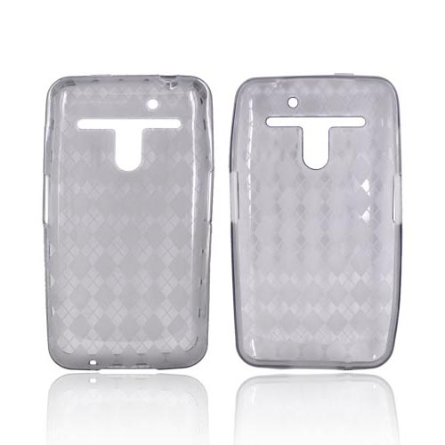 LG Revolution, LG Esteem Crystal Silicone Case - Argyle Smoke