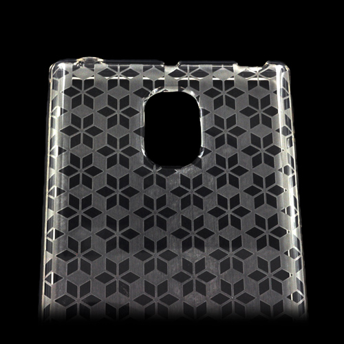 LG Optimus VS930 (Optimus LTE II) Crystal Silicone Case - Clear Hex Star