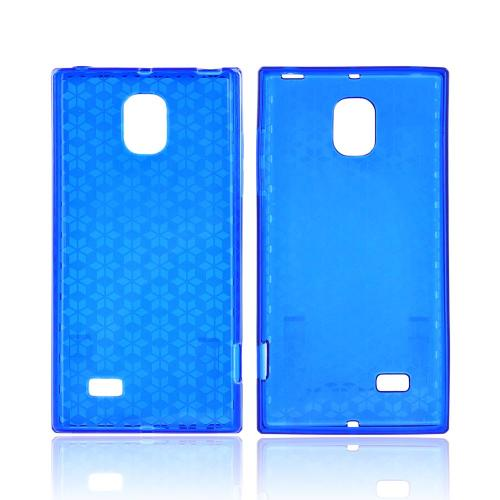 LG Spectrum 2 Crystal Silicone Case - Blue Hex Star