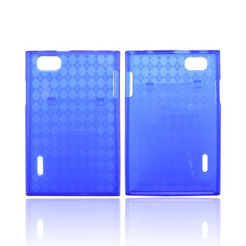 LG Intuition VS950 Crystal Silicone Case - Argyle Blue
