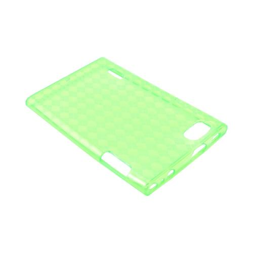 LG Intuition VS950 Crystal Silicone Case - Argyle Green