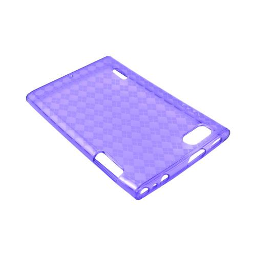 LG Intuition VS950 Crystal Silicone Case - Argyle Purple