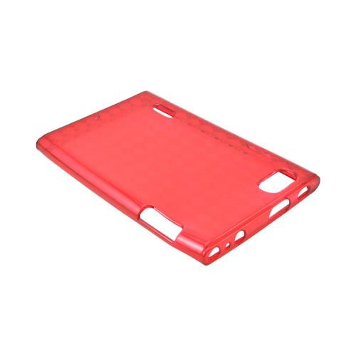 LG Intuition VS950 Crystal Silicone Case - Argyle Red
