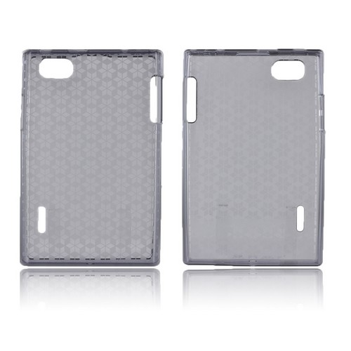 LG Optimus Vu VS950 Crystal Silicone Case - Smoke Hex Star
