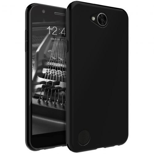LG X Calibur Case, [REDshield] Slim & Flexible Anti-shock Crystal Silicone Protective TPU Gel Skin Case Cover [Black]