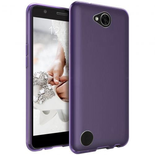LG X Calibur Case, [REDshield] Slim & Flexible Anti-shock Crystal Silicone Protective TPU Gel Skin Case Cover [Purple]