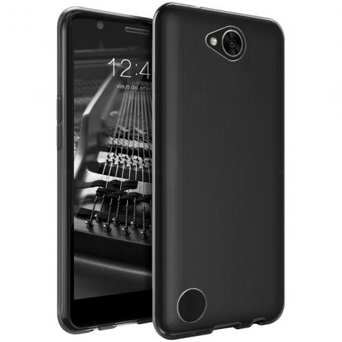 LG X Calibur Case, [REDshield] Slim & Flexible Anti-shock Crystal Silicone Protective TPU Gel Skin Case Cover [Smoke]