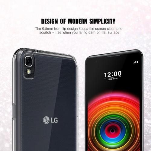[LG X Power] Case, REDshield [Black] Slim & Flexible Anti-shock Crystal Silicone Protective TPU Gel Skin Case Cover