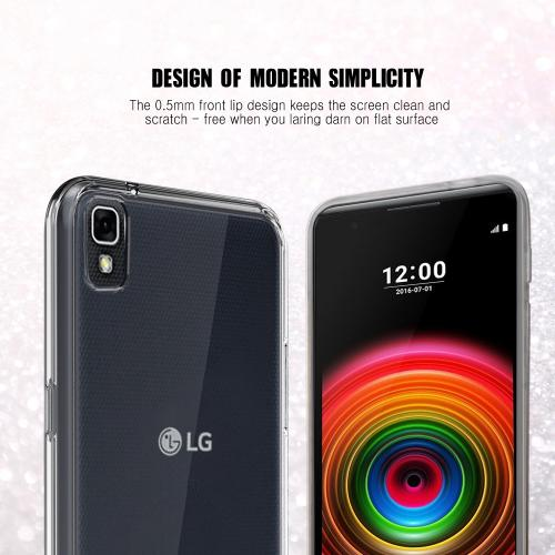[LG X Power] Case, REDshield [Clear] Slim & Flexible Anti-shock Crystal Silicone Protective TPU Gel Skin Case Cover
