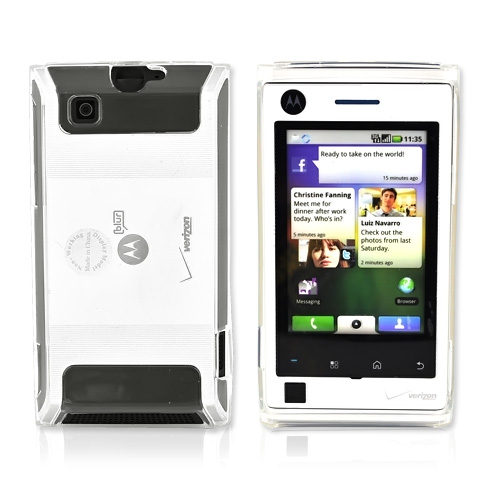 Motorola Devour A555 Crystal Silicone Case, Rubber Skin - Transparent Clear