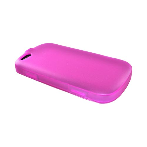 Motorola CLIQ XT Crystal Silicone Case, Rubber Skin - Pink