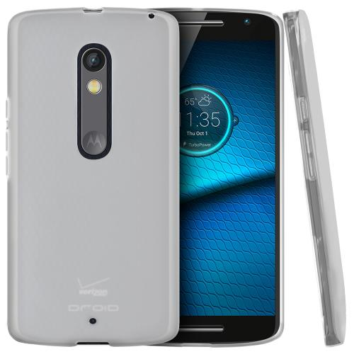 [Motorola Droid Maxx 2 Case],  [Clear]  Slim & Flexible Anti-shock Crystal Silicone Protective TPU Gel Skin Case Cover
