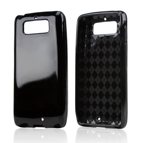 Black (Argyle Interior) Crystal Silicone Skin Case for Motorola Droid Mini